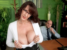 Fucking the monumental breasted SEXY HOUSEWIFE who's wearing glasses