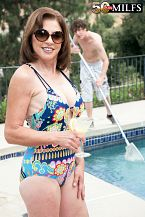 The pool lad bonks Cashmere's ass
