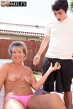 Constance, 52, copulates a 23-year-old